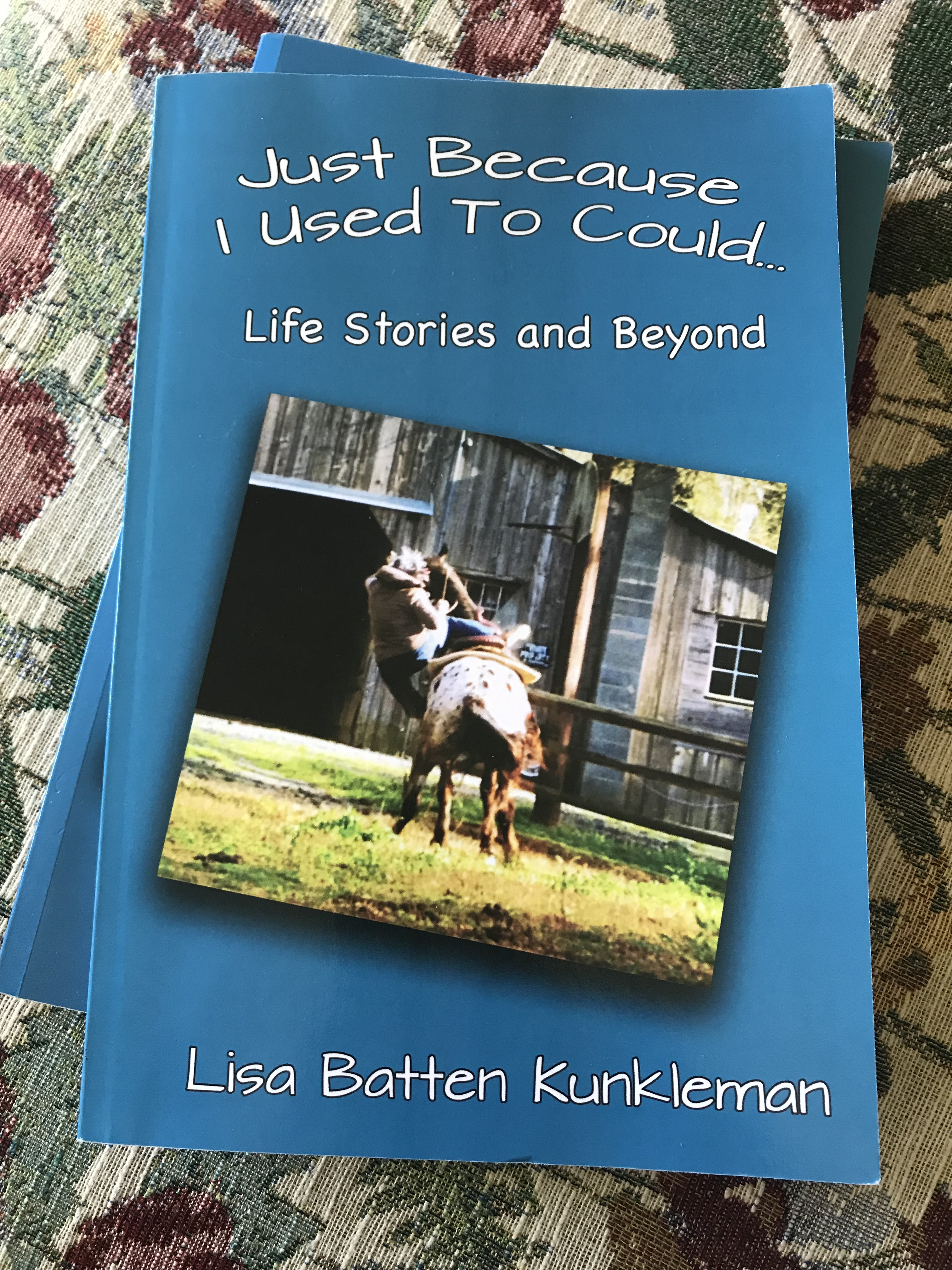 Check out my book. Just Because I Used to Could Step into the ever-changing life of a busy southern woman as she recounts day-to-day living with humor and vivid detail. As a former guidance counselor turned writer, Lisa Batten Kunkleman's book Just Because I Used to Could…Life Stories and Beyond